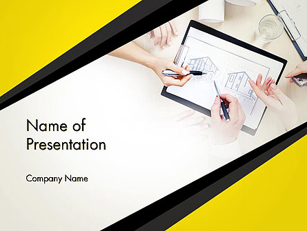 Architect at Work Presentation Template, Master Slide