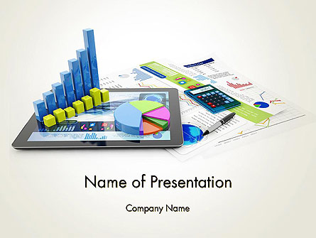 Financial Analysis and Report Presentation Template, Master Slide