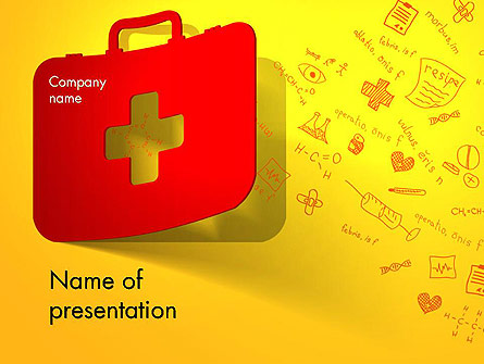 First Aid Box and Medical Supplies Presentation Template, Master Slide