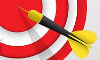 Red Bullseye Target Presentation Template
