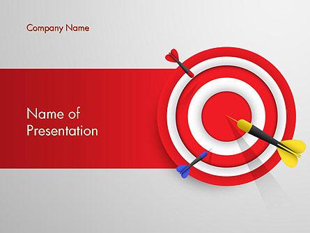 Red Bullseye Target Presentation Template, Master Slide