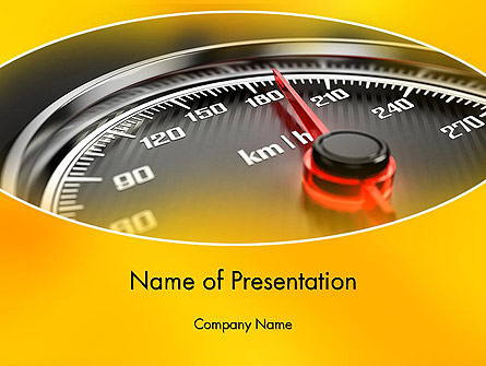 Dangerous Speeding Presentation Template, Master Slide