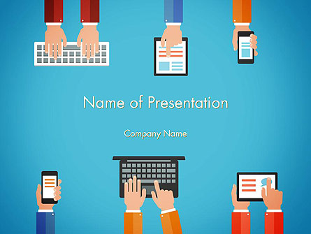 Digitization Presentation Template, Master Slide