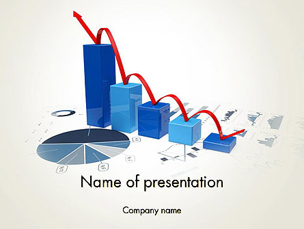 Recession Chart Presentation Template, Master Slide