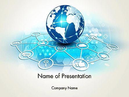 Globe and Communication Presentation Template, Master Slide