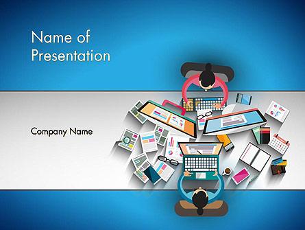 Experts at Work Presentation Template, Master Slide