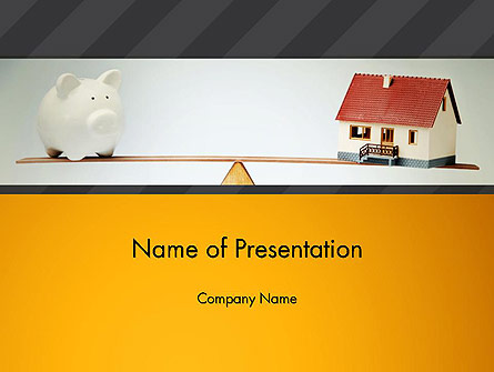 Mortgage vs Save for Retirement Presentation Template, Master Slide