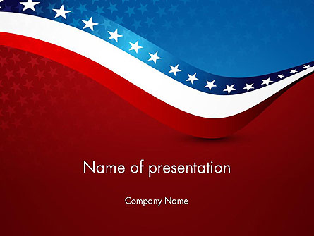 USA Patriotic Themed Presentation Template, Master Slide
