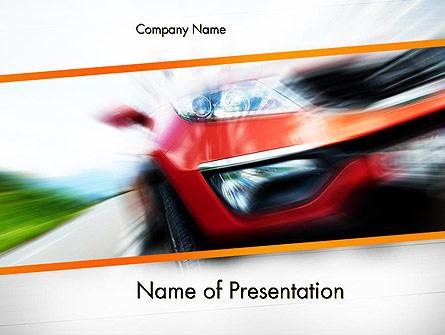 Speedy Car Presentation Template, Master Slide