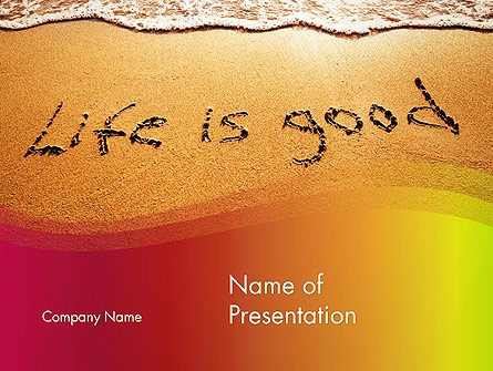 Happiest Moment Presentation Template, Master Slide