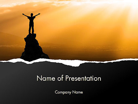 Personal Success Presentation Template, Master Slide