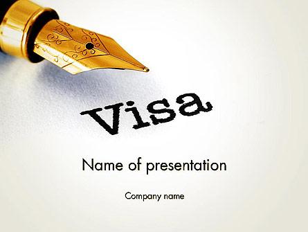 Immigration Visa Presentation Template, Master Slide