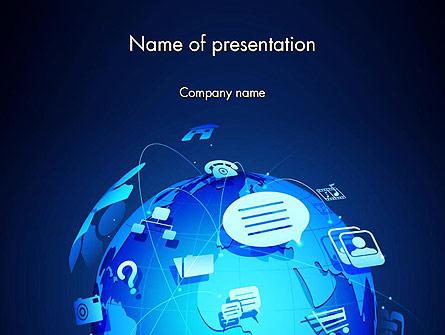 Digital Earth Globe Presentation Template, Master Slide