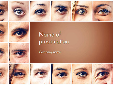 Peoples Eyes Presentation Template, Master Slide