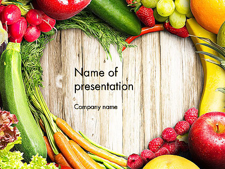 Love Fruit and Veg Presentation Template, Master Slide