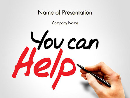 You Can Help Presentation Template, Master Slide