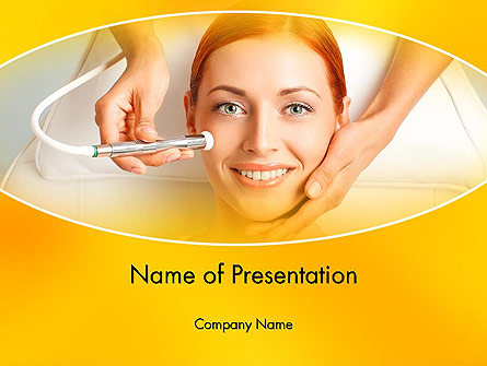Medical Skin Care Presentation Template, Master Slide