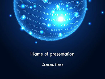 Digital Glowing Globe Abstract Presentation Template, Master Slide