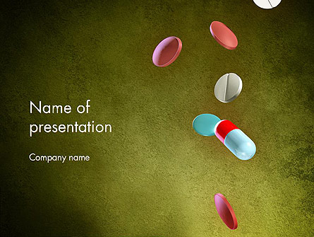 Falling Drugs Presentation Template, Master Slide