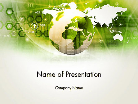 Abstract World Business Presentation Template, Master Slide