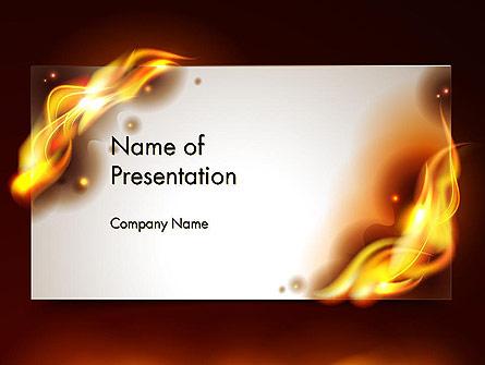Burning Paper Presentation Template, Master Slide