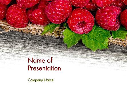 Red Raspberry Presentation Template, Master Slide