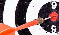 Dart Hitting Target Presentation Template