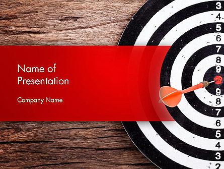 Dart Hitting Target Presentation Template, Master Slide