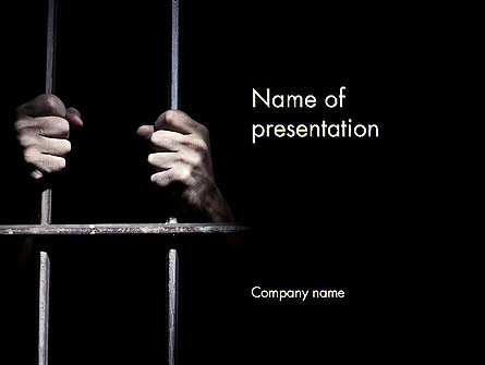 Man in Prison Presentation Template, Master Slide