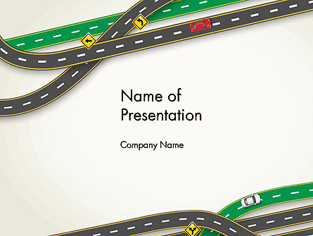 Road Traffic Presentation Template, Master Slide