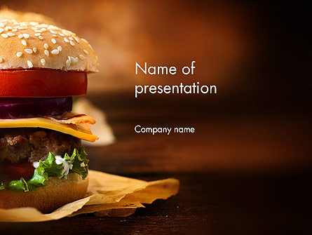 Gourmet Burger Presentation Template For Powerpoint And