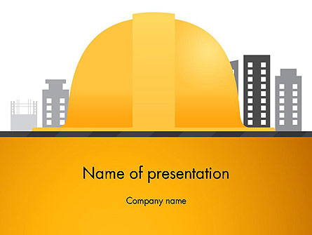 Constructing Theme Presentation Template, Master Slide