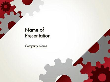 Cogwheels Gear Illustration Presentation Template, Master Slide