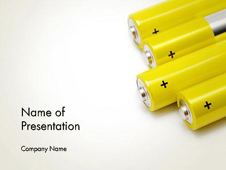 Yellow Batteries Presentation Template, Master Slide