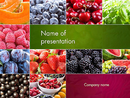 Collage with Different Fruits Presentation Template, Master Slide