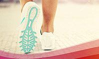 Legs Of Jogging Woman Presentation Template