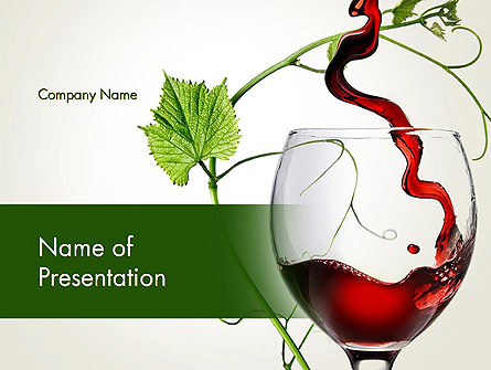 Red Wine Glass Presentation Template, Master Slide