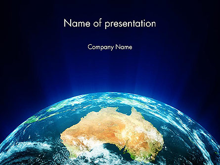 Australia on Earth Presentation Template, Master Slide