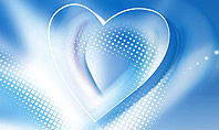 Blue Heart Background Presentation Template