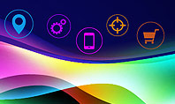 Colorful Wave with App Icons Presentation Template