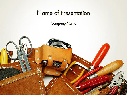 Home Maintenance Presentation Template, Master Slide