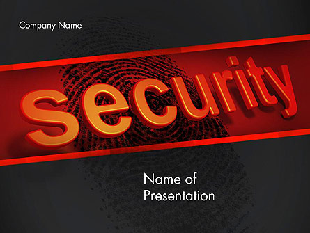 Biometrics Security System Presentation Template, Master Slide