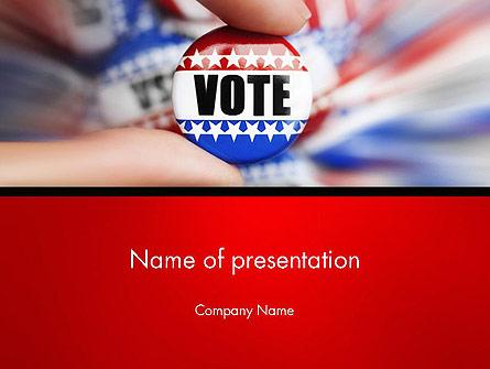 Vote Badge Presentation Template, Master Slide