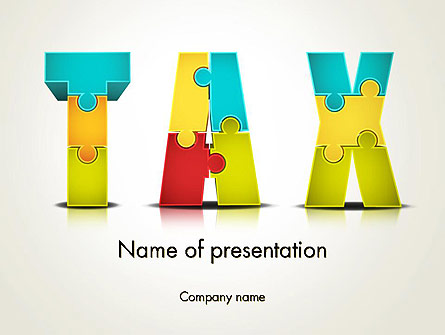 Tax Puzzle Presentation Template, Master Slide
