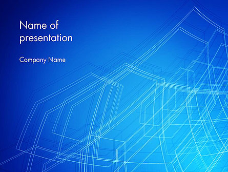 Wireframe Object Presentation Template, Master Slide