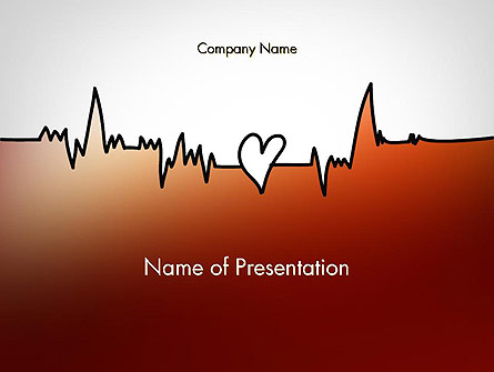 Love Heartbeat Presentation Template, Master Slide
