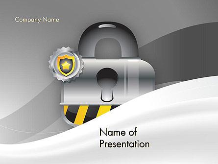 Secured and Locked Presentation Template, Master Slide