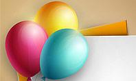 Happy Birthday Balloons Presentation Template