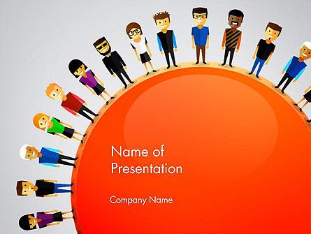 People Around the World Presentation Template, Master Slide
