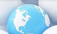 Globe in Among White Balls Presentation Template